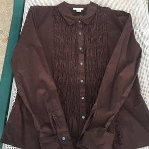 Harold's ruched front blouse